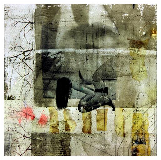BROKEN Art Print by db Waterman