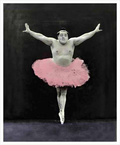 Sumo Ballet Art Print by tzigone