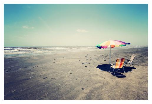 Beach Day Art Print by Trish Mistric
