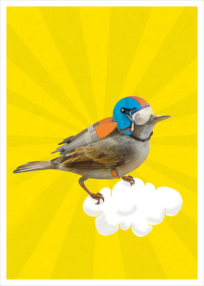 Rocket Bird Art Print by tzigone