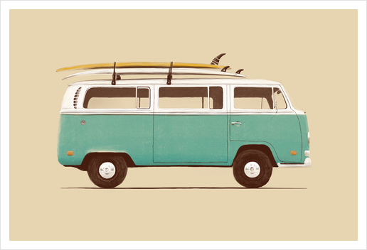 Blue Van Art Print by Florent Bodart - Speakerine