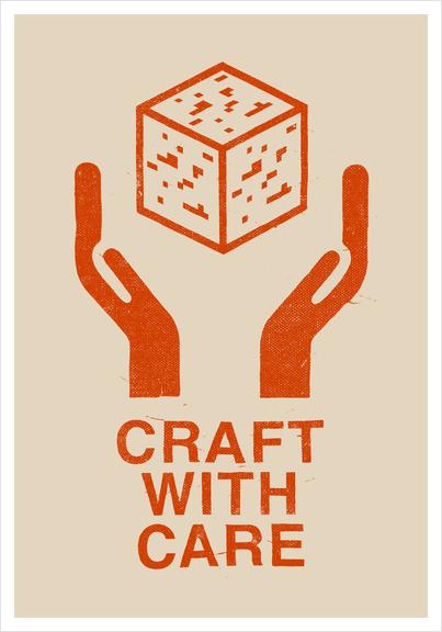 Craft With Care (Orange) Art Print by Florent Bodart - Speakerine