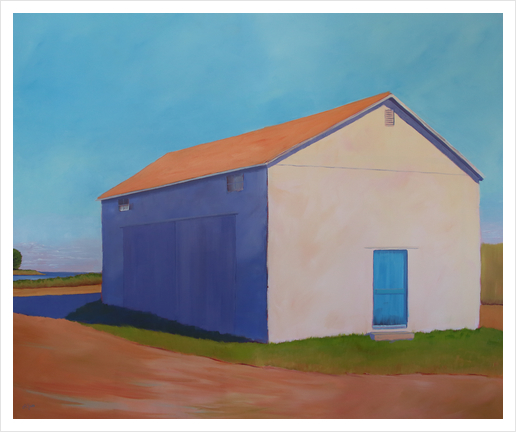 Cantaloupe and Coastline Art Print by Carol C Young. The Creative Barn