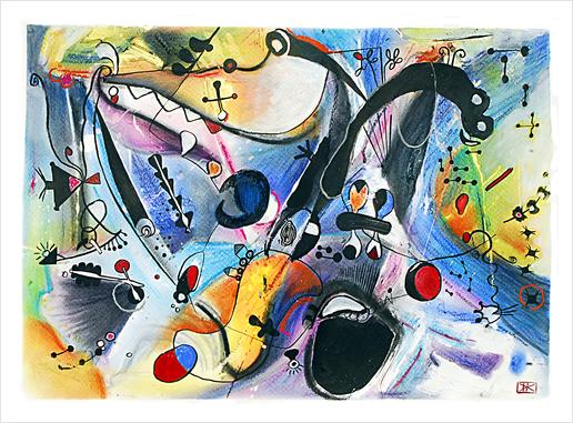 Joyeux paysage Art Print by Denis Chobelet