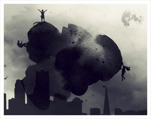 Cloudwatchers Art Print by inkycubans