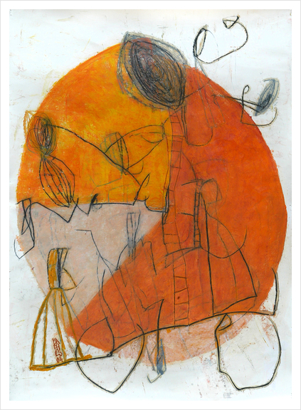 Composition 8 Art Print by Jean-Noël Bachès