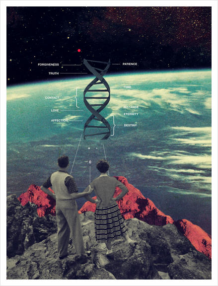 Distance & Eternity Art Print by Frank Moth