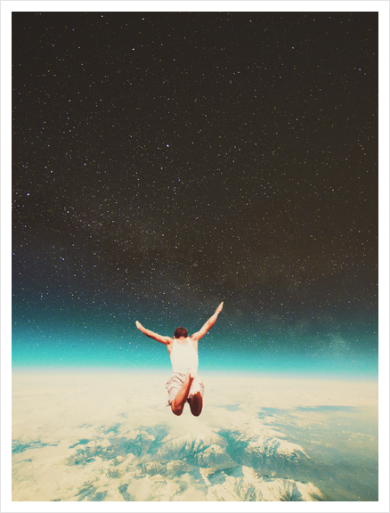 Falling With A Hidden Smile Art Print by Frank Moth