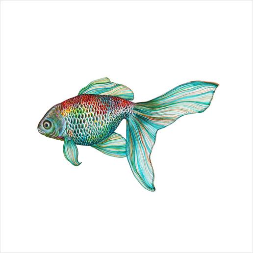 Fish Art Print by Nika_Akin