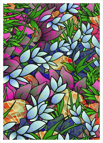 Floral Abstract Artwork G464 Art Print by MedusArt