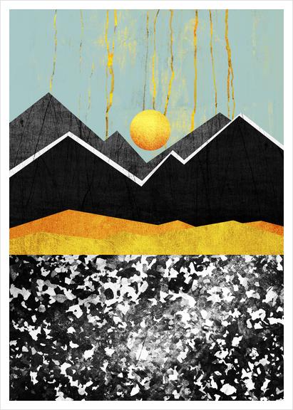 Golden Land Art Print by Elisabeth Fredriksson