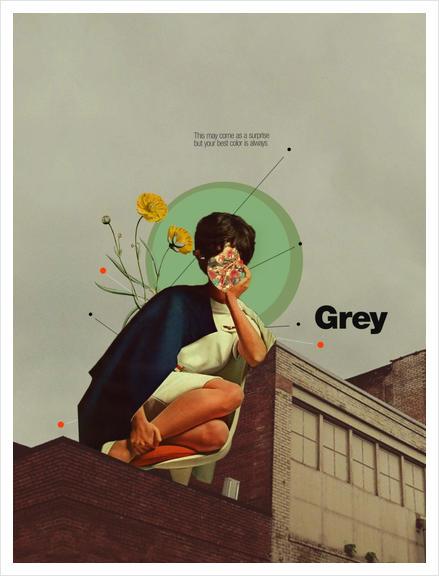 Grey Art Print by Frank Moth