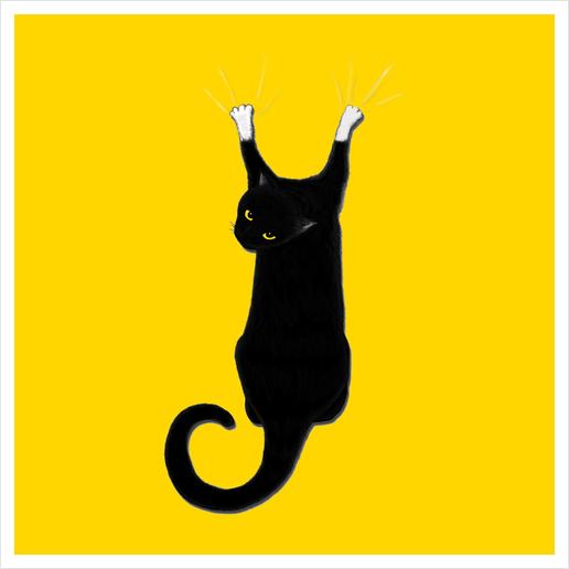 Hang Cat Art Print by Tummeow