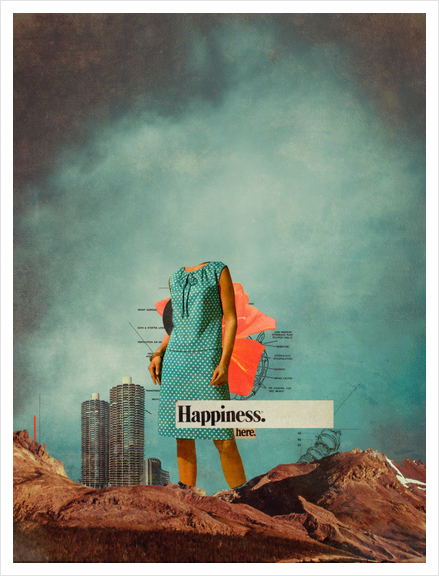 Happiness Here Art Print by Frank Moth