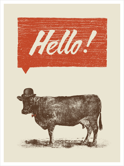 Hello! Art Print by Florent Bodart - Speakerine