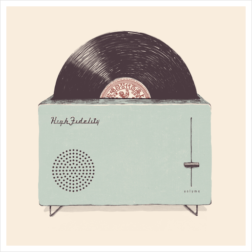 High Fidelity Art Print by Florent Bodart - Speakerine