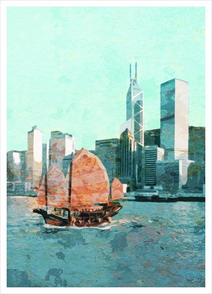 Hong Kong  Art Print by Malixx