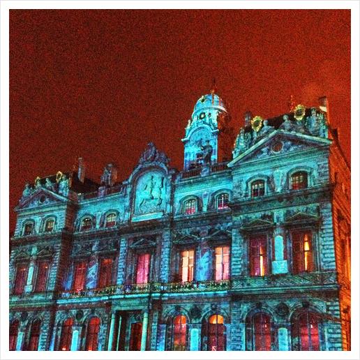 City Hall of Lyon Art Print by Ivailo K