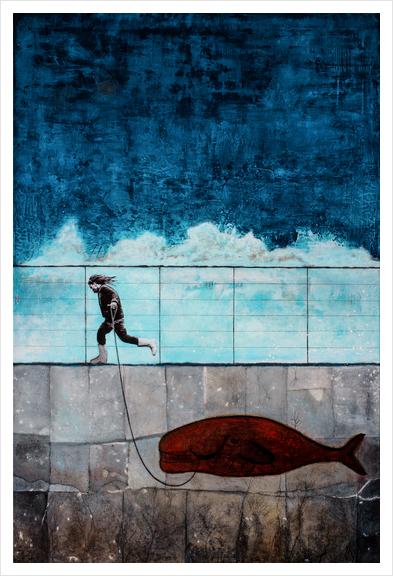 IMAGINARY FRIEND Art Print by db Waterman