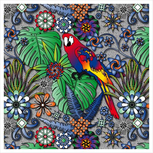 Jungle Flowers Art Print by vannina