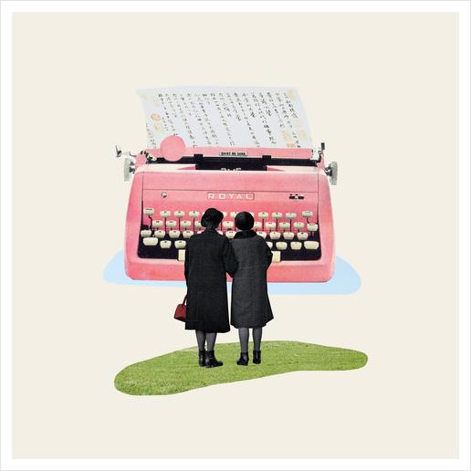Typewriter Art Print by Oleg Borodin