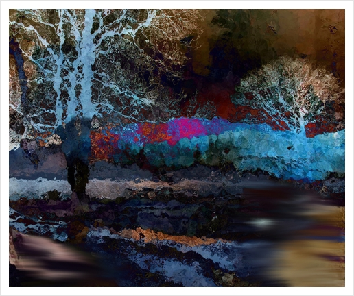 Nuit Art Print by jacques chiron
