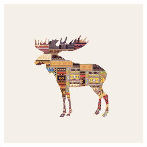 Elk Art Print by Oleg Borodin