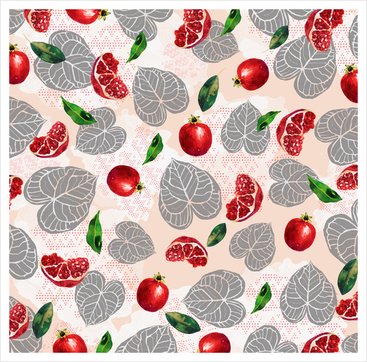 Love leaves with fruits Art Print by mmartabc