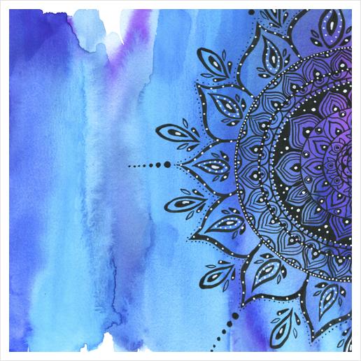 Blue Mandala Art Print by Li Zamperini
