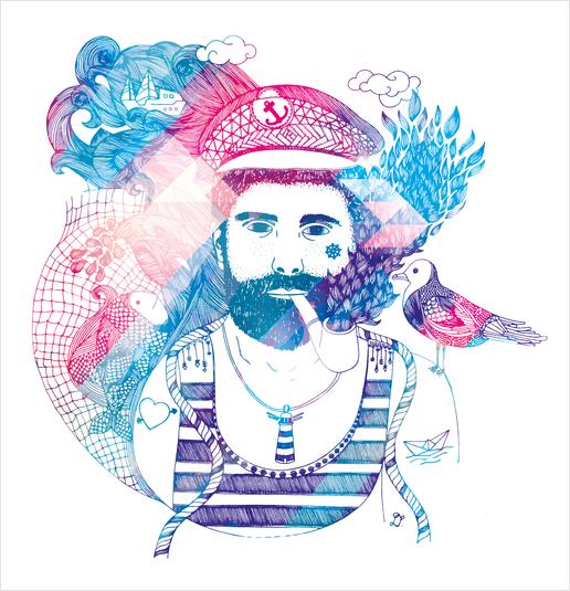 Cap'taine Art Print by Laurene