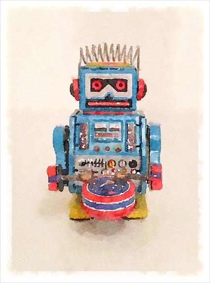 My Robot Art Print by Malixx