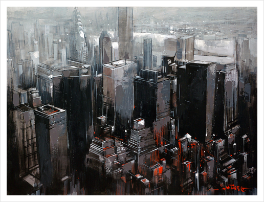 NEW YORK Art Print by Vantame
