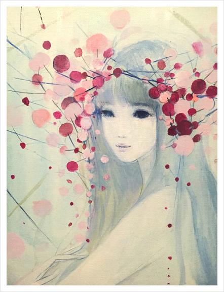 heavenly bamboo  / ナンテン  Art Print by Ai Natori