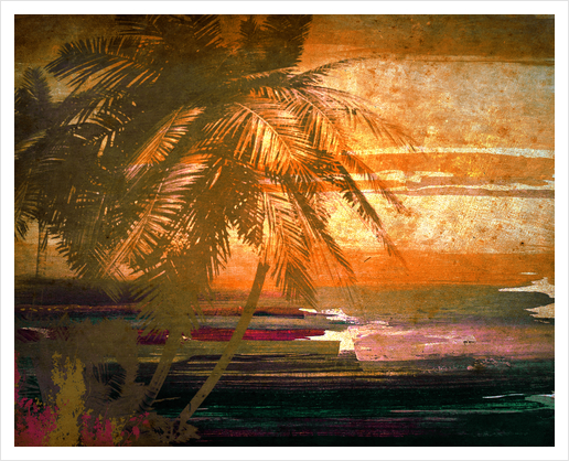 Paradise Island  Art Print by Irena Orlov