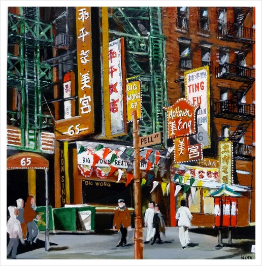quartier chinois new york Art Print by Koen De Weerdt