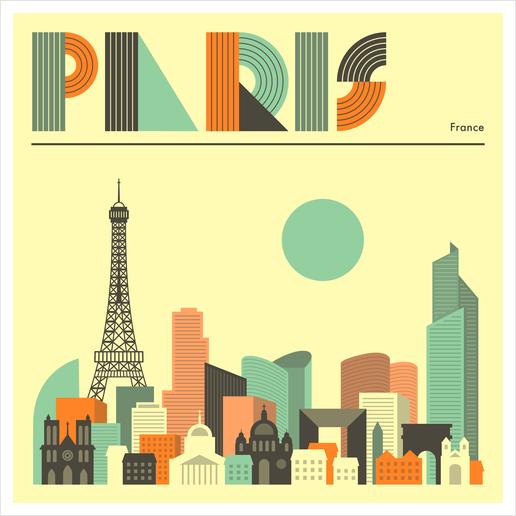 PARIS Art Print by Jazzberry Blue