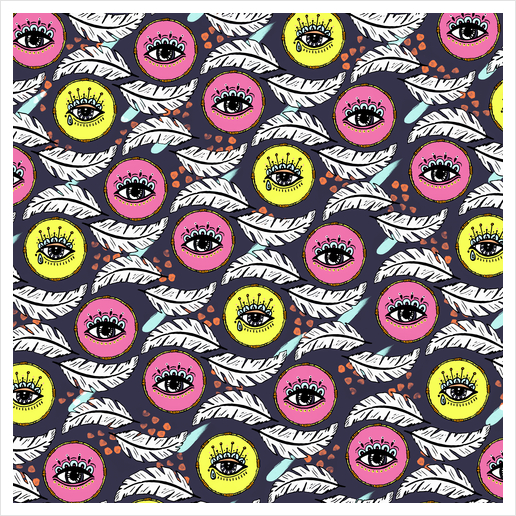 Pattern Boho eyes Art Print by mmartabc