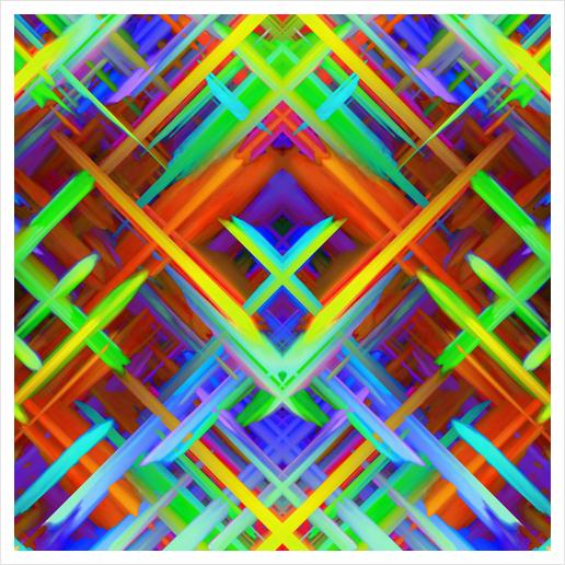 Colorful digital art splashing G466 Art Print by MedusArt