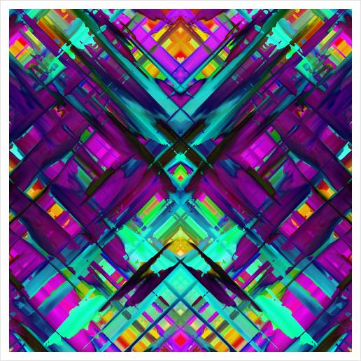 Colorful digital art splashing G472 Art Print by MedusArt