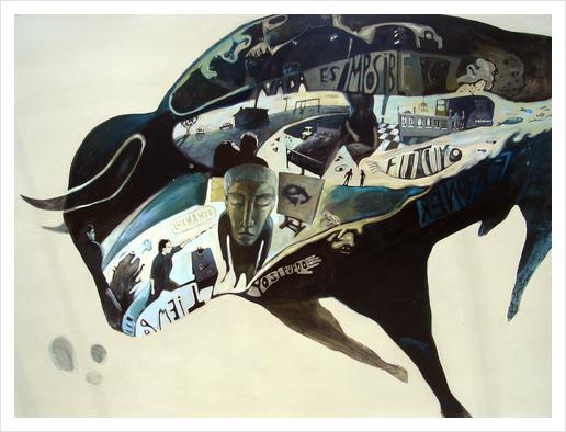 Bull Art Print by alejandro Saavedra Solano