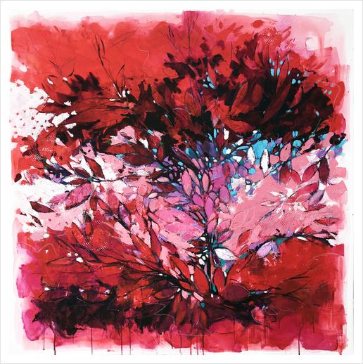 Purple maze Art Print by andreuccettiart