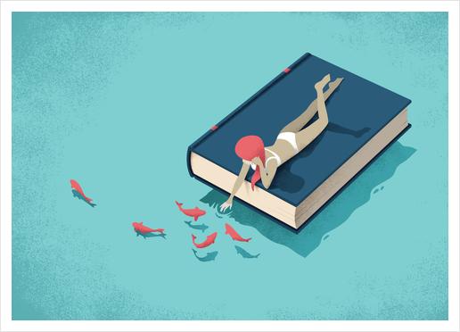 Relaxing Art Print by Andrea De Santis