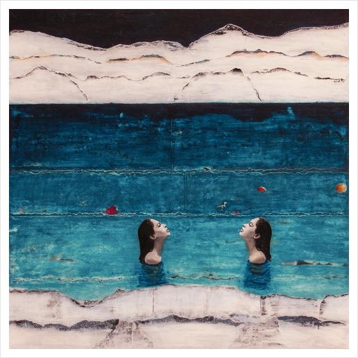 RISING WATERS Art Print by db Waterman