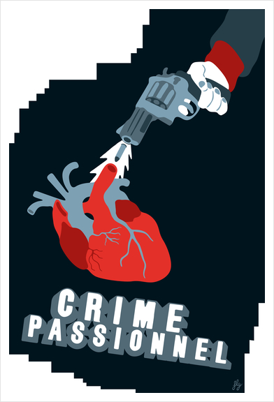 CRIME OF PASSION Art Print by Francis le Gaucher