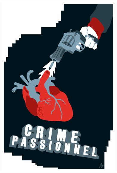CRIME OF PASSION Art Print by Francis le Gaucher