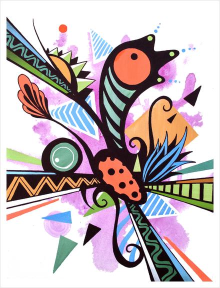 Incandescent nature  Art Print by Skount