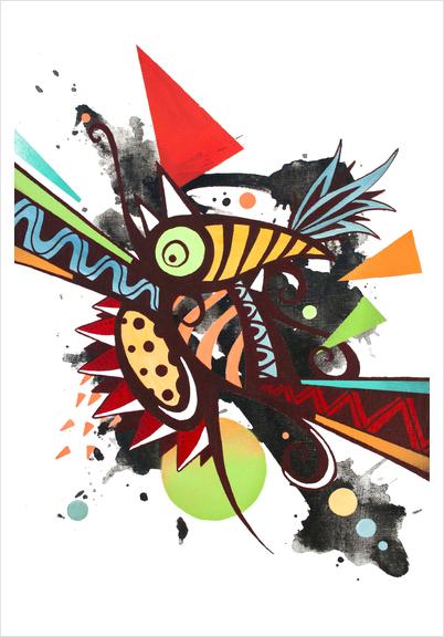 Fragmented incandescent nature Art Print by Skount