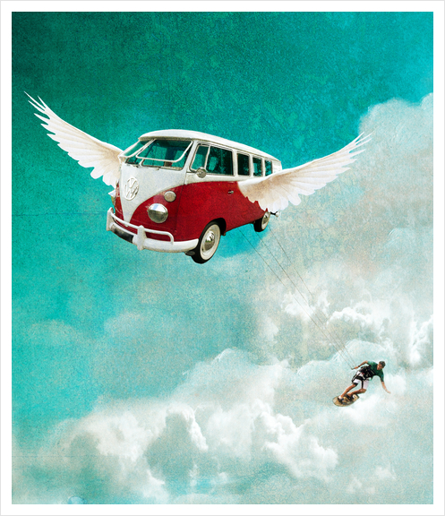 Sky-surf Art Print by tzigone