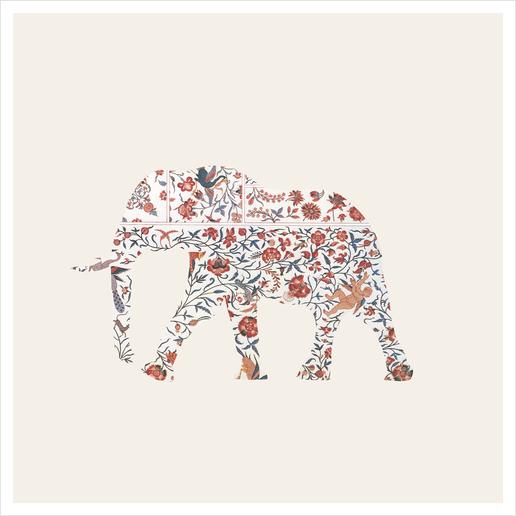 Elephant Art Print by Oleg Borodin