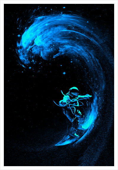 Space Surfing Art Print by Nicebleed
